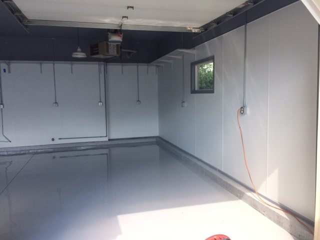 New Garage Cement Floor (alternate view) -