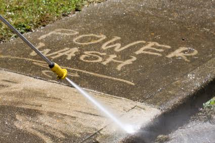 Look at that Power Washing -