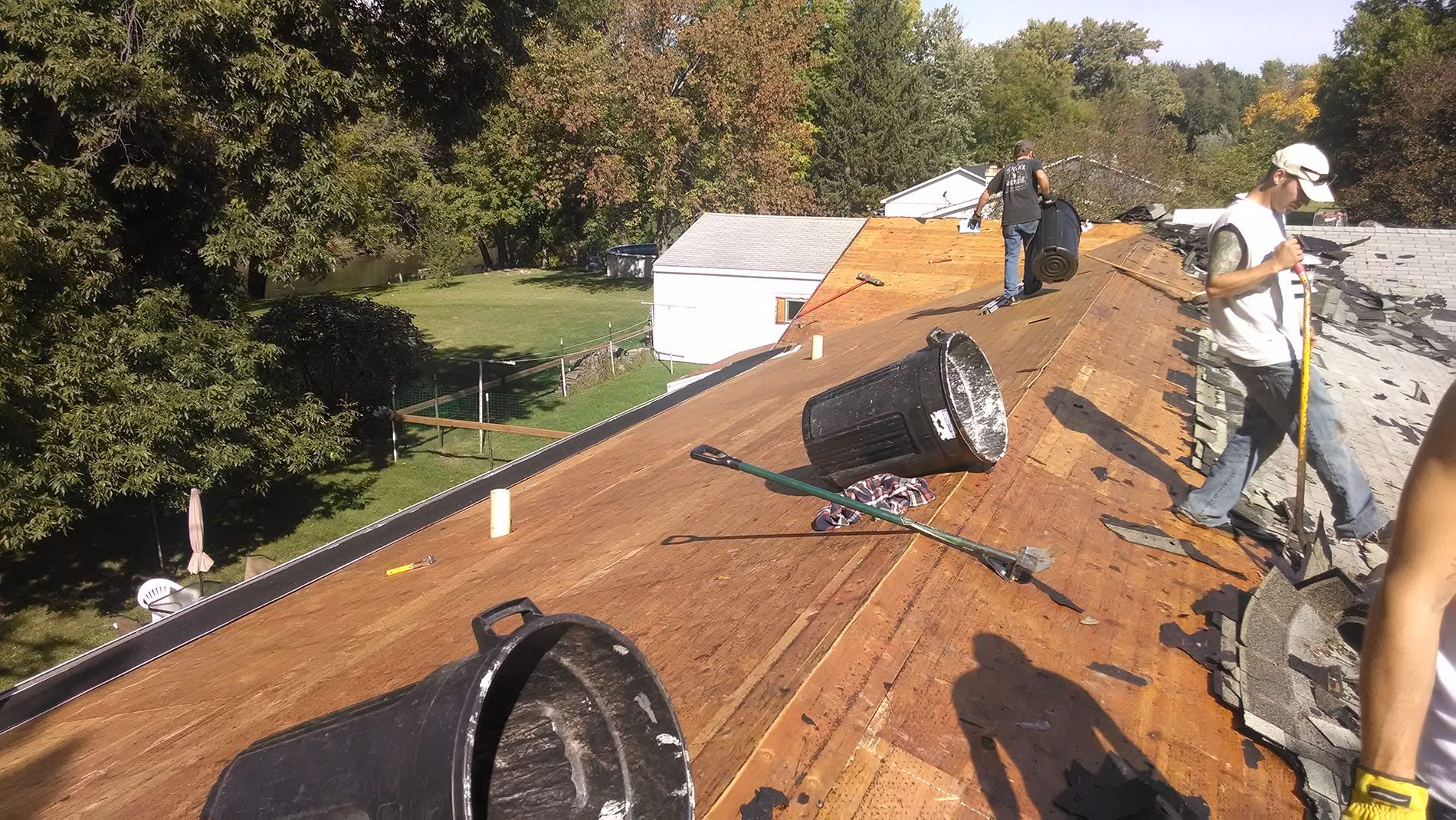 New Roof (removing old roof) -