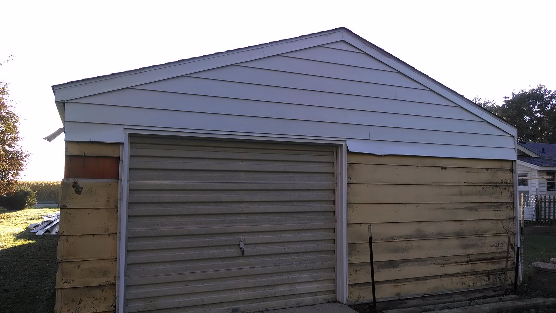 Exterior Siding Removal (in progress, alternate view) -