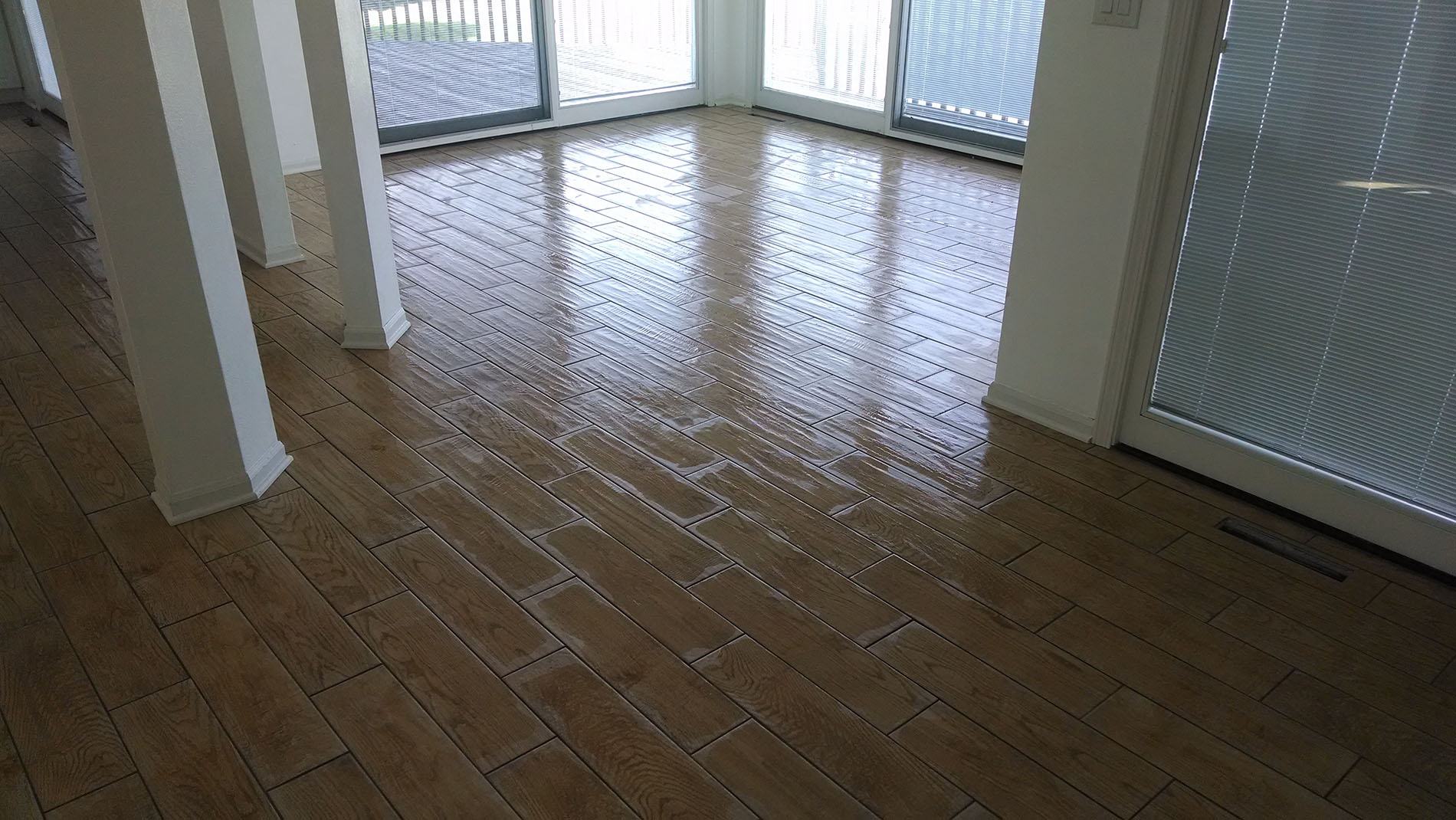 Drying Dining Room Floor -