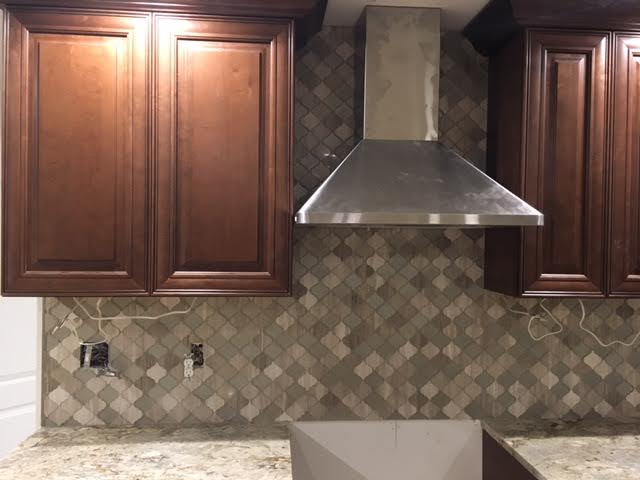 Custom Tile (oven backsplash, mosaic, alternate view) -