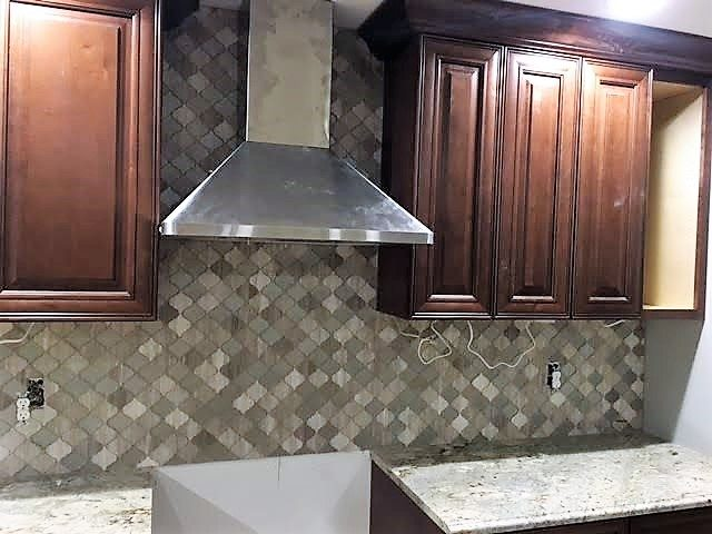 Custom Tile (oven backsplash, mosaic) -