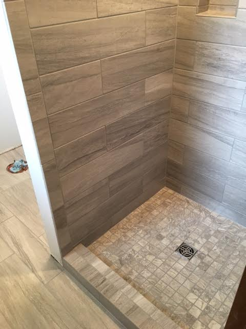Custom Tile Modern Shower (alternate view) -