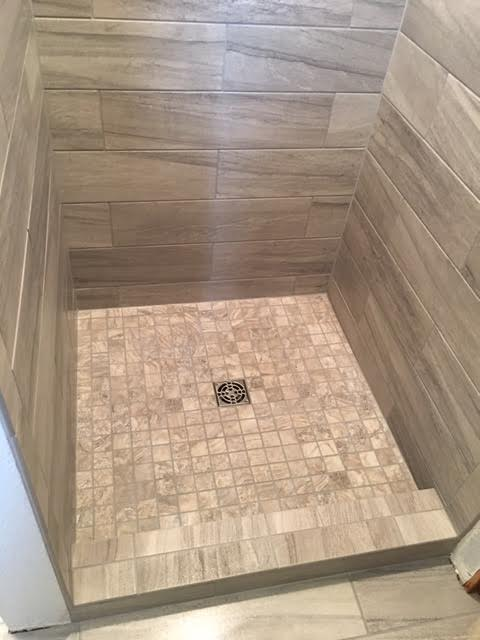 Custom Tile Modern Shower -