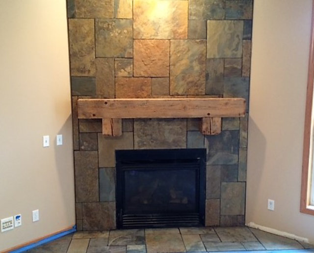 Custom Fireplace and Mantle -