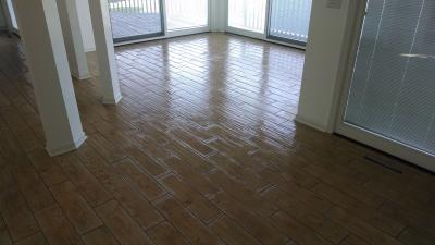 Drying Dining Room Floor