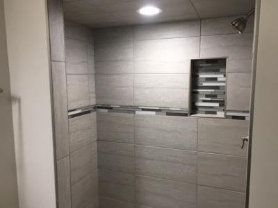 Custom Tile Modern Shower (finished)