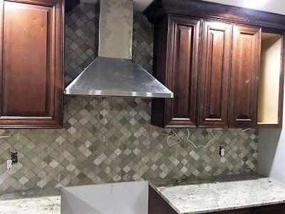 Custom Tile (oven backsplash, mosaic)