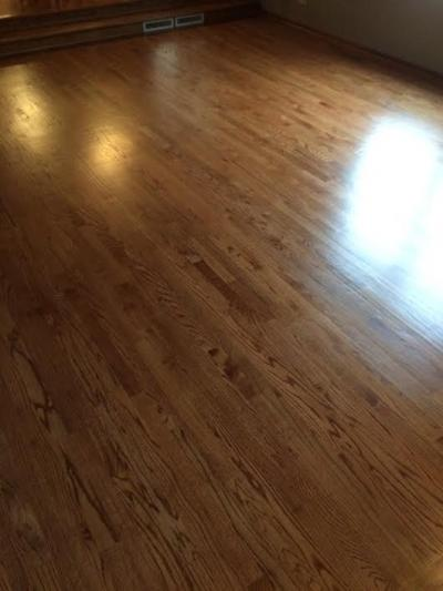 Finished Wood Floor (look at it shine)