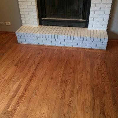 Finished Wood Floor (fireplace view)