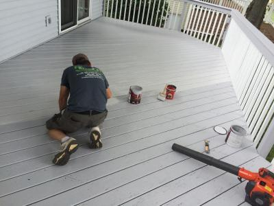 Deck Painting (in progress)