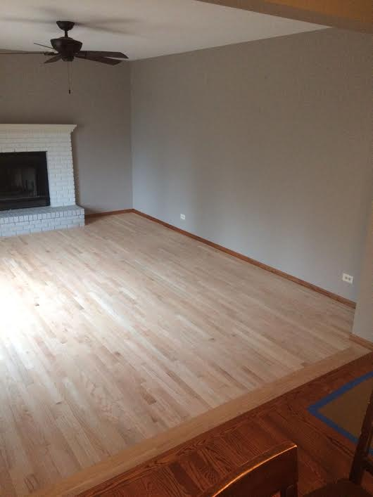New Wood Floor (in progress, alternate view) -