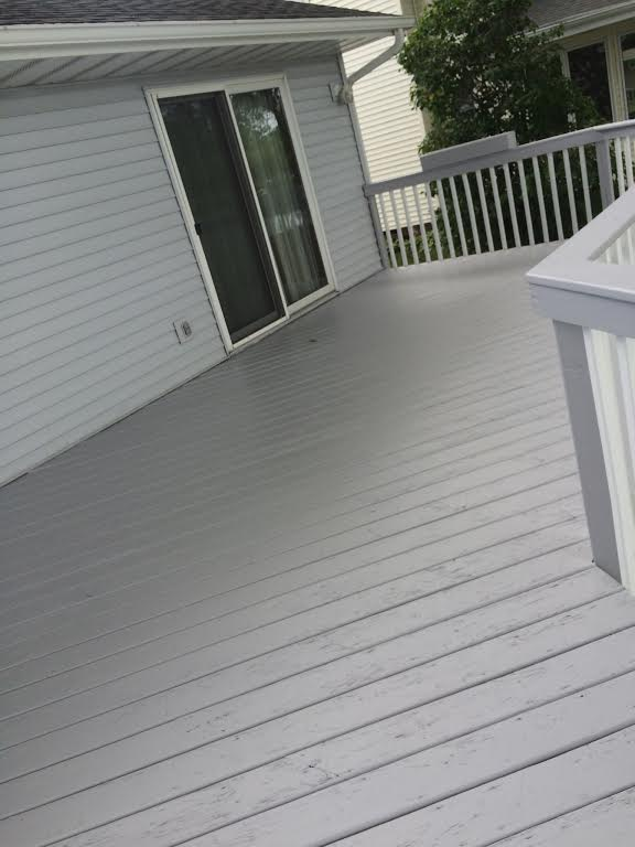 Deck Painting (before) -
