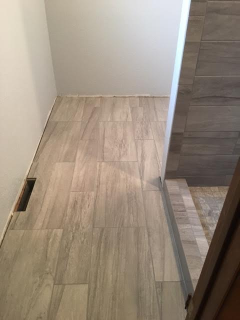 Stone Bathroom Floor -